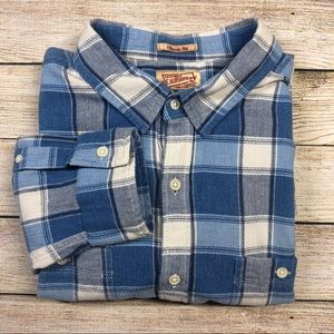 Lucky Brand XL Plaid Classic Fit Long Sleeve Shirt